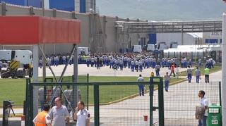 Ford Otosan İnönü Fabrikası'nda iş bırakma eylemi