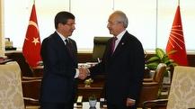 Başbakan Davutoğlu, CHP genel merkezi'nde